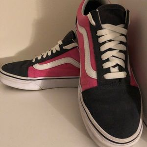 Pink, and dark grey vans